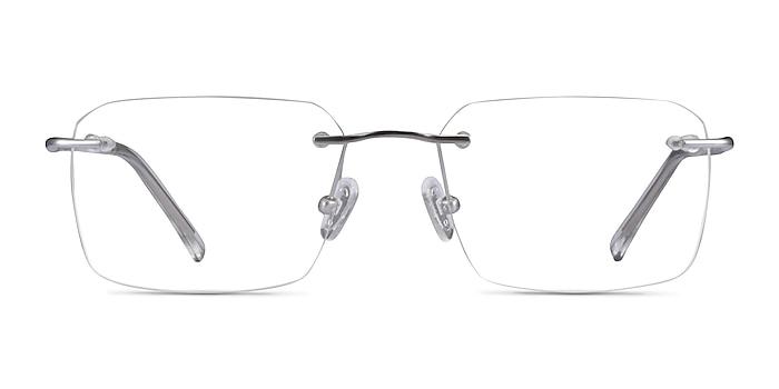 Nate Silver Clear Titanium Eyeglass Frames from EyeBuyDirect