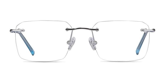 Nate Silver Clear Blue Titane Montures de lunettes de vue d'EyeBuyDirect