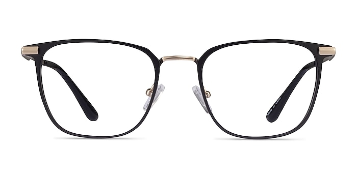 Pond Matte Balck Titanium Eyeglass Frames from EyeBuyDirect
