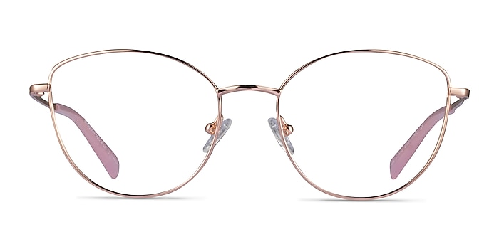 Mandolin Rose Gold Titanium Eyeglass Frames from EyeBuyDirect