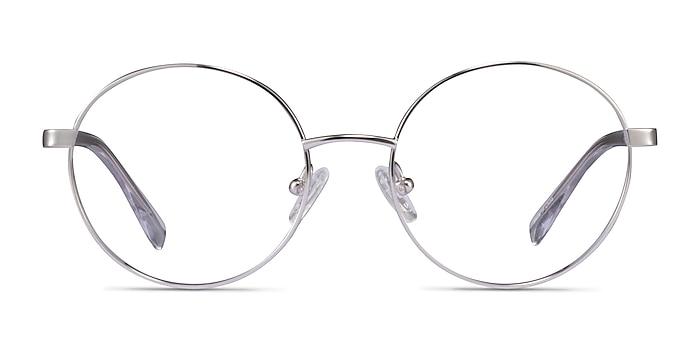 Sahel Silver Titanium Eyeglass Frames from EyeBuyDirect