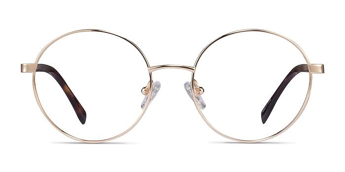 Sahel Gold Titanium Eyeglass Frames from EyeBuyDirect