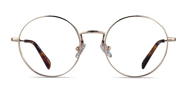 Jonah Gold Titanium Eyeglass Frames