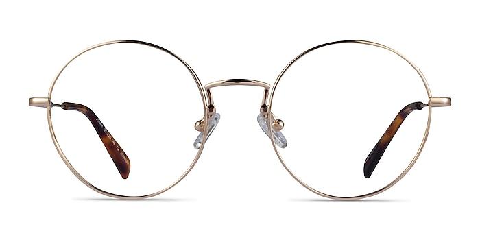 Jonah Gold Titanium Eyeglass Frames from EyeBuyDirect