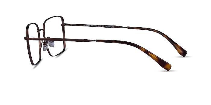 Caspian Coffee Titanium Eyeglass Frames from EyeBuyDirect