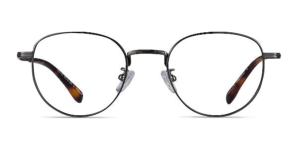 Scottie Gunmetal Titanium Eyeglass Frames