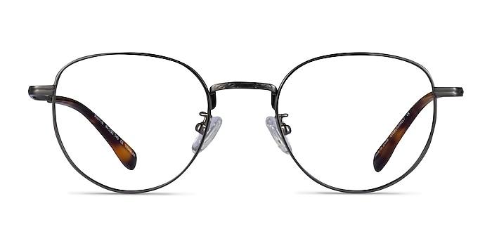 Scottie Gunmetal Titanium Eyeglass Frames from EyeBuyDirect