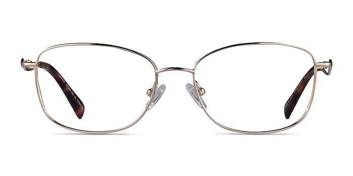 Dianele Gold Titanium Eyeglass Frames from EyeBuyDirect