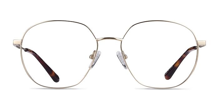 Diana Gold Titanium Eyeglass Frames from EyeBuyDirect