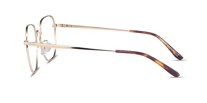 Alphabet Gold Titanium Eyeglass Frames from EyeBuyDirect