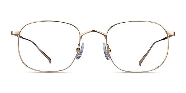 Linus Gold Titanium Eyeglass Frames