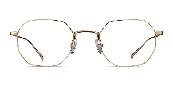 Virgil Gold Titanium Eyeglass Frames