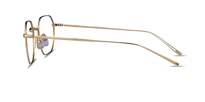 Virgil Gold Titanium Eyeglass Frames from EyeBuyDirect