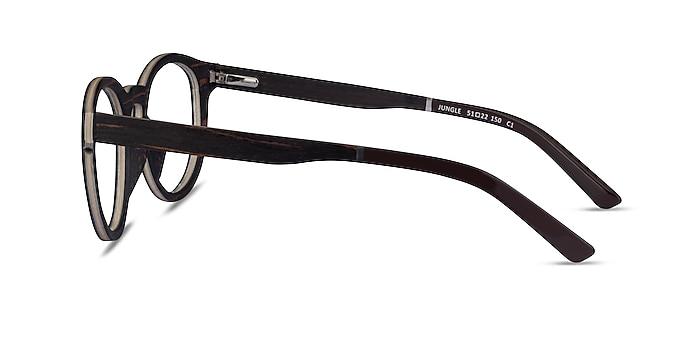 Jungle Striped Dark Wood Wood-texture Eyeglass Frames from EyeBuyDirect