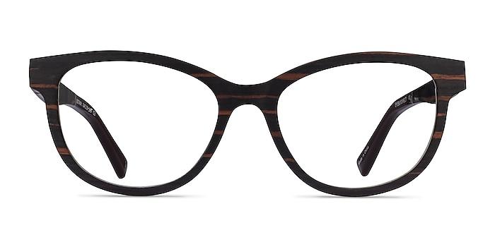 Botany Striped Dark Wood Wood-texture Eyeglass Frames from EyeBuyDirect