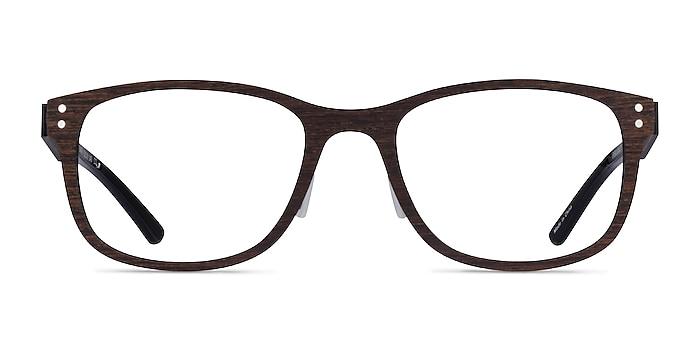 Earth Boisée Wood-texture Montures de lunettes de vue d'EyeBuyDirect