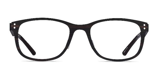 Earth Dark Wood Wood-texture Eyeglass Frames