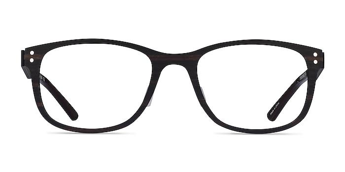 Earth Dark Wood Wood-texture Montures de lunettes de vue d'EyeBuyDirect