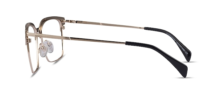 Evergreen Gold & Striped Woord Wood-texture Montures de lunettes de vue d'EyeBuyDirect