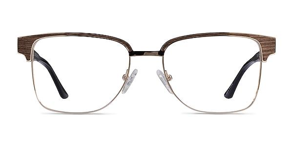 Biome Gold, Black & Wood Acetate Eyeglass Frames