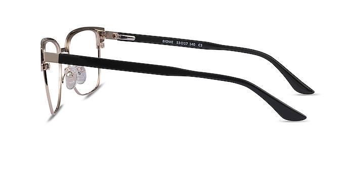 Biome Gold, Black & Dark Wood Acetate Eyeglass Frames from EyeBuyDirect