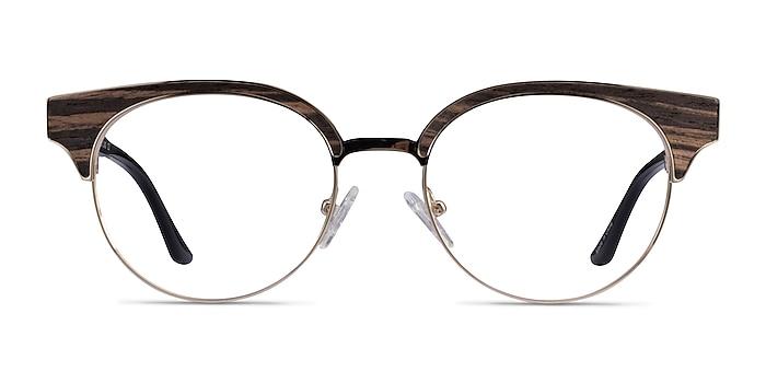 Wilderness Gold Black Metal Eyeglass Frames from EyeBuyDirect