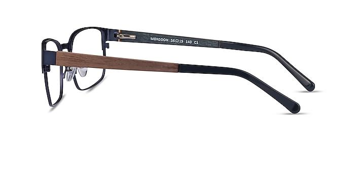 Monsoon Dark Blue Wood-texture Montures de lunettes de vue d'EyeBuyDirect