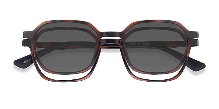 Tortoise Paseo Clip-On -  Plastic Eyeglasses