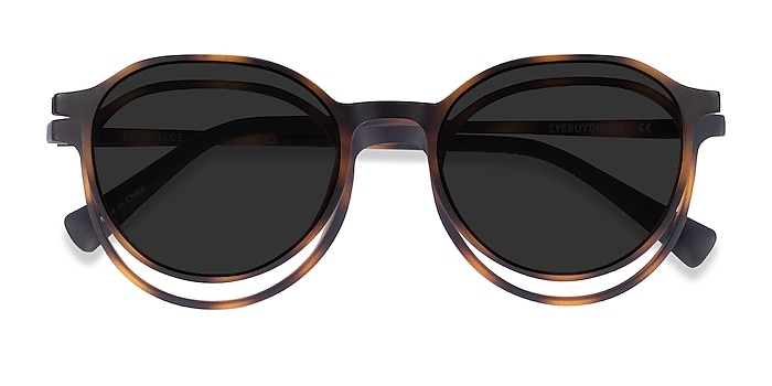 Matte Tortoise Esplanade Clip-On -  Plastic Eyeglasses
