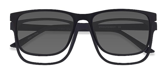 Black Impetus Clip-On -  Plastic Eyeglasses