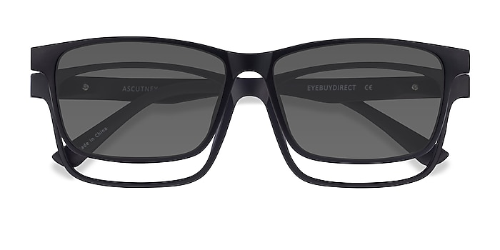 Black Ascutney Clip-On -  Plastic Eyeglasses