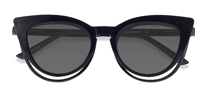 Black Patio Clip-On -  Plastic Eyeglasses