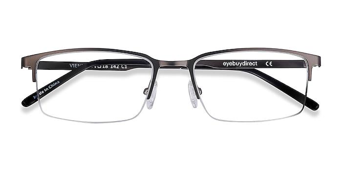 Gray Vienna -  Lightweight Metal Eyeglasses