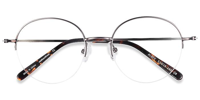 Gunmetal Albee -  Vintage Metal Eyeglasses