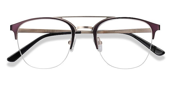 Purple Society -  Vintage Metal Eyeglasses