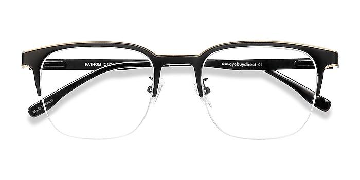 Bronze Black Fathom -  Metal Eyeglasses