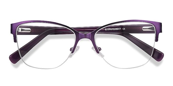 Purple Feline -  Vintage Acetate, Metal Eyeglasses