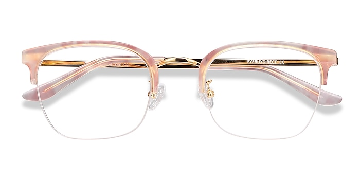Pink Curie -  Vintage Acetate, Metal Eyeglasses