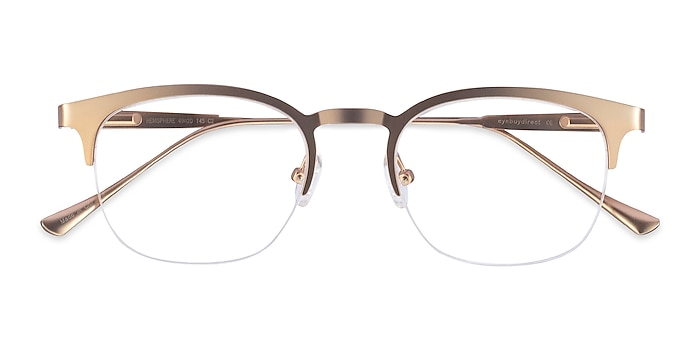 Rose Gold Hemisphere -  Vintage Metal Eyeglasses