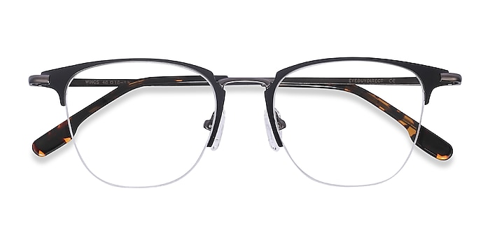 Black Wings -  Metal Eyeglasses