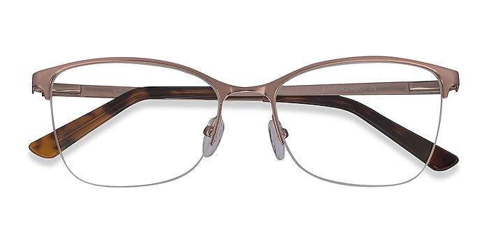 Rose Gold Kira -  Vintage Metal Eyeglasses