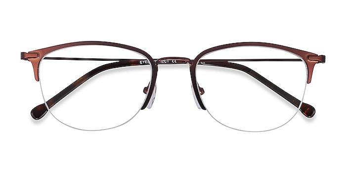 Brown Elise -  Lightweight Metal Eyeglasses