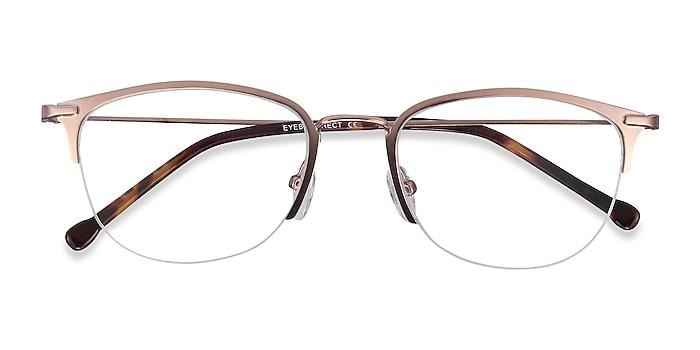 Rose Gold Elise -  Vintage Metal Eyeglasses