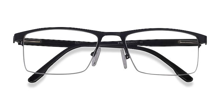 Matte Black Singapore -  Metal Eyeglasses