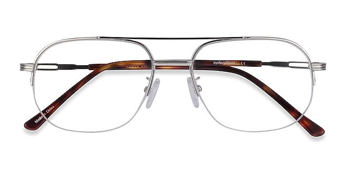 Silver Carlson -  Vintage Acetate, Metal Eyeglasses