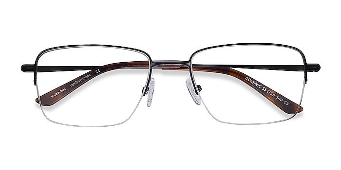 Black Dominic -  Metal Eyeglasses