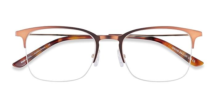 Coffee Owen -  Metal Eyeglasses