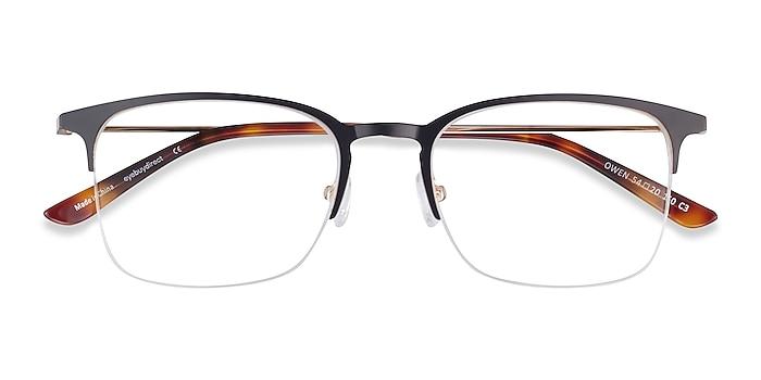 Black Owen -  Metal Eyeglasses