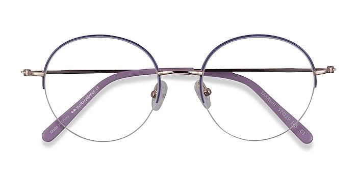 Purple & Gold Takashi -  Fashion Metal Eyeglasses