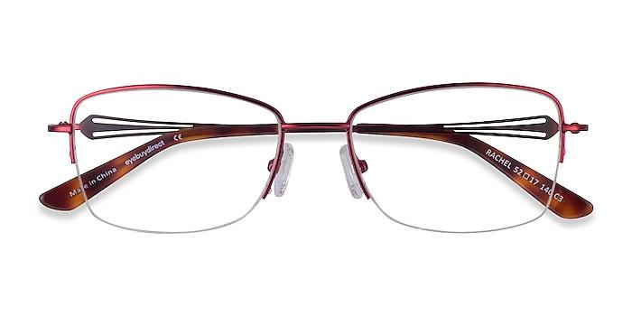Burgundy Rachel -  Metal Eyeglasses